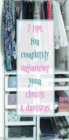7 Tips for Completely Organizing Your Small Closet and Dresser from The Happy Housie Source by maisondecinq organization Dresser Drawer Organization, Wardrobe Organisation, Small Closet Organization, Organizing Ideas, Clothing Organization, Decluttering Ideas, Organising, Closet Organization Tips, Organize Dresser