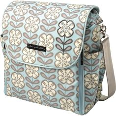 I wanted this bc it can be a backpack!!! Super easy to carry and big to fit all the twin gear.  Petunia Diaper Bag