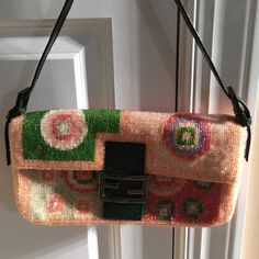 RARE vintage beaded Fendi baguette Absolutely stunning!!!!! All beading  perfect 6feef6a621af3