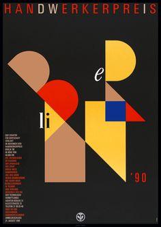 Handwerkerpreis 1990 OTT AND STEIN Functionalism, Design Studios, Grafik Design, Bauhaus, Typography, Graphics, Type, History, Illustration