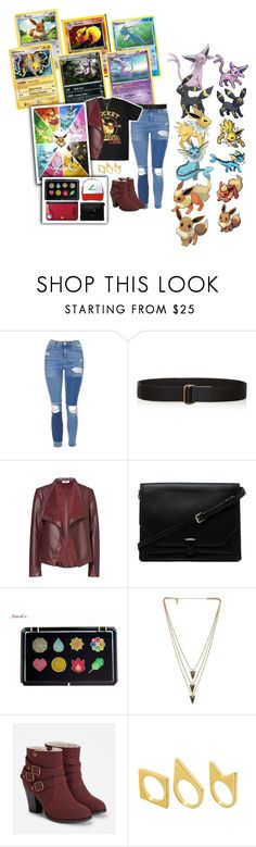 """""""Team Eevee 4 the Win"""" by hbw1996 ❤ liked on Polyvore featuring Topshop, Tomas Maier, BB Dakota, 3.1 Phillip Lim, Ash, Kanto, Melanie Auld, JustFab and Just Acces"""