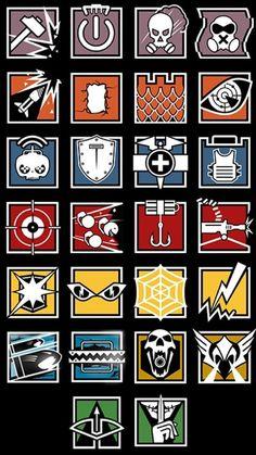 Resultado de imagen de escudos de rainbow six siege