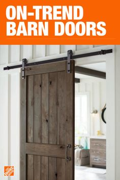 Update your home& interior by painting and installing a barn door with this easy howto Diy Barn Door, Barn Door Hardware, Door Hinges, Home Improvement Projects, Home Projects, Barn Door Designs, Painted Doors, Wood Doors, Best Interior Design