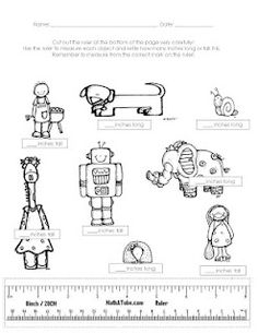 Here's a page that encourages students to practice measuring objects to nearest inch.
