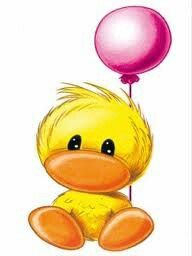 Baby Ducky With Balloons Cute Images, Cute Pictures, Easter Bunny Pictures, Blue Nose Friends, Belly Painting, Cute Clipart, Tatty Teddy, Rock Art, Easy Drawings