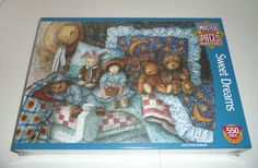 Sweet Dreams 550 Piece Jigsaw Puzzle Anna Krajewski Bears Dolls Gift Bed SEALED #MasterPieces