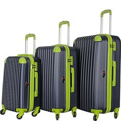 8d5d0c5295c8 Brio Luggage Hardside Spinner Luggage Set NavyGreen    This is an Amazon  Affiliate link.