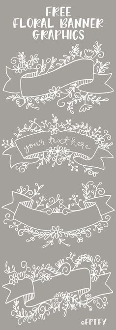 Free Floral Banner Graphics- Set of 4-CU ok! - Free Pretty Things For You