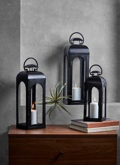 Large Lanterns, Metal Lanterns, Lanterns Decor, Candle Lanterns, Decorative Lanterns, Candle Lighting, Moroccan Lanterns, Black Lantern, Lantern Candle Holders