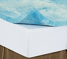 b5426d633e Twin 2 Inch iSoCore Gel Infused Swirl 6.0 Memory Foam Mattress Topper with  Waterproof Cover and