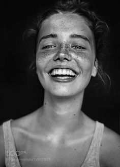 Jasmijn - Pinned by Mak Khalaf Photography: Agata Serge Model: Jasmijn People portraitmodelbnwfreckles by AgataSerge