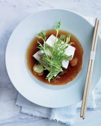 David Chang's light and elegant no-cook dish features custardy silken tofu in a sweet and savory Fuji apple broth. Slideshow: More David Chang Recipes Vegan Lunch Recipes, Vegan Lunches, Healthy Recipes, Healthy Eats, Healthy Foods, Wine Recipes, Asian Recipes, Cooking Recipes, Ethnic Recipes