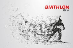 The biathlon is made up of particles. The biathlon consists of circles and points. Circles, Make Up, Template, Goals, Illustration, Movie Posters, Biathlon, Makeup, Film Poster