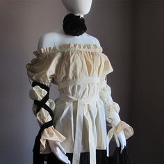 Gothic Lolita Blouse. Steampunk Clothes. Plus Size Blouse. Renaissance Blouse. Ships TODAY from Canada. Pirate, Peasant, Vampire Blouse.. $95.00, via Etsy.