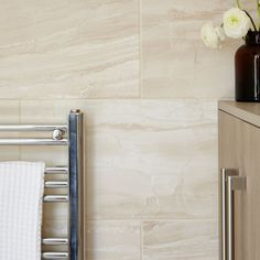Fossilised Wood Sand Stone Effect Ceramic Wall & Floor Tile, Pack of 6, (L)598mm (W)298mm | Departments | DIY at B&Q