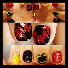 """""""ALL THAT"""" TV Show nails, 90s nails"""