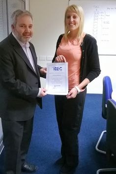 Alicia Ward receives her Apprentice Achievement Award from Simon Laverick, General Manager for CMCA in Crook. Since undergoing tests relating to dyslexia, Alicia has received additional support from tutor Michelle and manager Tracy, utilising audio recordings as opposed to using a written format and translating words. In recognition of all her hard work, Alicia has been promoted to the position of Business Analyst for CMCA.   Well Done Alicia !!