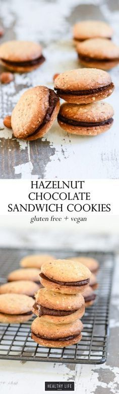 Hazelnut Chocolate Sandwich Cookie Recipe gluten free vegan recipe