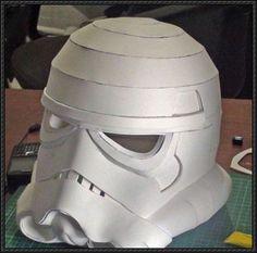 Star Wars - Life Size Stormtrooper Helmet Free Papercraft Download