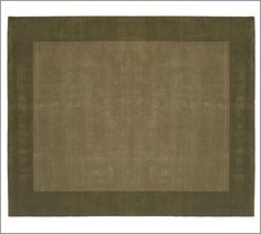Living/Dining room:  Henley Rug in Dark Thyme with sheared pile that is velvety to the touch 8' x 10' $499.00 [pure yard-dyed wool]