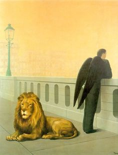 This is a painting by Magritte called Homesickness. This picture was painted in 1940. This picture represents depression and sadness. The reason for the sadness, was Nazi Germany was becoming more powerful and invaded Magritte's home. That caused him to flee. This painting likely explains Magritte feeling sad and missing home.