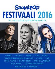 Jyväskylän Lutakossa heinäkuussa vietettävällä Suomipop-festivaalilla juhlitaan muiden muassa Antti Tuiskun, JVGn, Apulannan, Jari Sillanpään ja Chisun kanssa. Liput Suomipop festivaalille myynnissä nyt lippu.fissä!