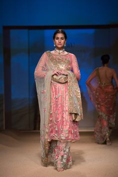 Ashima Leena pink salwar kameez with see-through salwar.