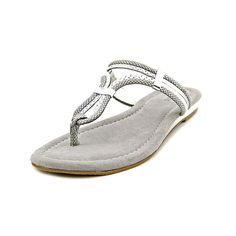 Alfani Orlena Silver Flat Sandals Women -- See this great product. (This is an affiliate link and I receive a commission for the sales)