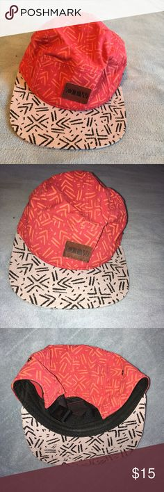 1201b5afe3807 Five Panel Snapback Aztec print 5 panel snapback The pictures make it look  more orange than it actually is Never worn!