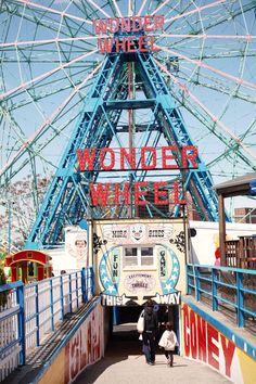 """Coney Island, NY   The Infamous Wonder Wheel. I miss this place so much. Makes me want to watch """"The Warriors"""""""