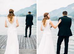First Look - I love them!  Magdalena & Martin | Hochzeit in Strobl am Wolfgangsee - Carolin Anne Fotografie - Wedding Photographer from Linz, Austria