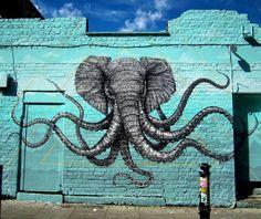 The work of Alexis Diaz in East London #streetart #streetartnews @alexis_diaz  @romrom by streetartnews
