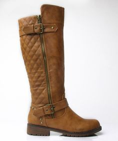 Nature Breeze Vivienne-01 Studded Quilted Leatherette Buckle Round Toe Motorcycle Boots >>> See this great image  : Boots