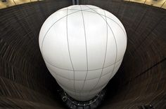 Big Air Package is the latest project from artist Christo installed at the Gasometer Oberhausen in Germany,