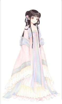 中国古风和二次元的完美融合,真的好美!图...@惠心如冰采集到汉服(139图)_花瓣其它