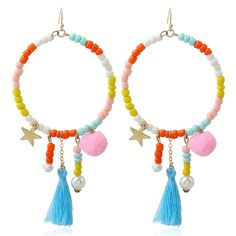 Find Me 2017 new Fashion Vintage hair ball Drop Earrings for Women Jewelry Ethnic Statement Punk boho big circle Dangle Earrings