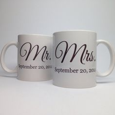 Unique Wedding Gift Idea - Bridal Shower Gift - Mr and Mrs Coffee Mug - Unique Bridal Shower Gift - Wedding Gift Idea - Ceramic Coffee Mug on Etsy, $26.95