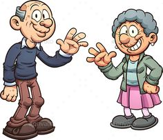 Cartoon Grandparents by memoangeles Cartoon grandparents. Vector clip art illustration with simple gradients. Each on a separate layer. Art And Illustration, Kids Art Class, Cute Cartoon Drawings, Girlfriend Humor, Art Plastique, Drawing For Kids, Graphic, Grandparents, Caricature