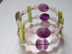 Bangle Bracelet Modern Jewelry Cuff bracelet with MOP by icColors, $10.00