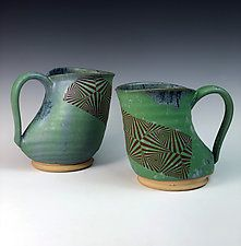 "Ducktail Mug with vector pattern by Thomas Harris (Ceramic Mug) (5"" x 3.5"")"