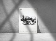 Malaga Spain Calendar 2021 Limited Edition 11 x 8 | Etsy Black And White Painting, Black White Art, Malaga Spain, Painting & Drawing, Wall Art Decor, Really Cool Stuff, Calendar, Drawings, Artwork