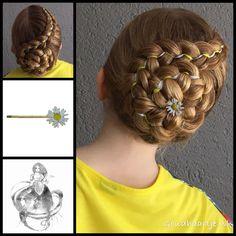 Five strand ribbon braid with a daisy bobbypin from the webshop www.goudhaartje.nl #hair #hairstyle #updo #braidedupdo #elegantupdo  #beautifulhair #gorgeoushair #hairinspiration #hairinspo #braid #braids #dutchbraid #ribbonbraid #braidideas #hairaccessories #plait #plaits #trenza #vlecht #vlechten #haaraccessoires #hairstylesforgirls #opgestoken #goudhaartje