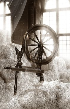 The spinning wheel represents Frigga. She is the wife of Odin and the Queen of Asgard. She is the protector of marriage. Frigga sits at her spinning wheel day after day.