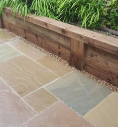Outstanding in value, this is a range of Kebur's own imported Indian Sandstone Paving Available in four beautiful colours to create a stunning natural patio Garden Slabs, Garden Paving, Garden Paths, Terrace Garden, Outdoor Paving, Patio Slabs, Back Garden Design, Backyard Garden Design, Backyard Landscaping