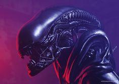 Aliens Xenomorph fan art. Xenomorph, Tattoo Sketches, Aliens, Dean, Tattoo Designs, Fan Art, Artwork, Work Of Art, Auguste Rodin Artwork