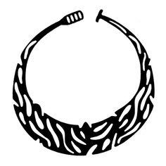Safari print ketting, strakkere vorm, valt mooi kort in de hals!
