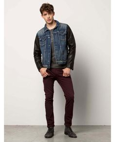 Trucker Jacket - Leathered > Mens Clothing > Blazers at Scotch & Soda