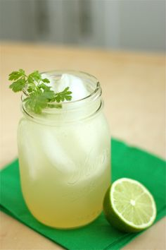 Sparkling Cilantro Limeade with Honey Simple Syrup | Project Domestication