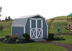 outdoor painted  shed | Here is a link that might be useful: blue from other thread