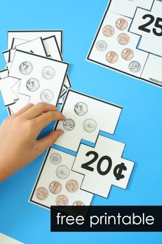 Money games for first grade and second gradeFree printable counting coins puzzles. Money games for first grade and second grade Money Games Free, Counting Money Games, Money Activities, Counting Coins, Money Games For Kids, Counting Puzzles, Free Math Games, Abc Games, 2nd Grade Math Games